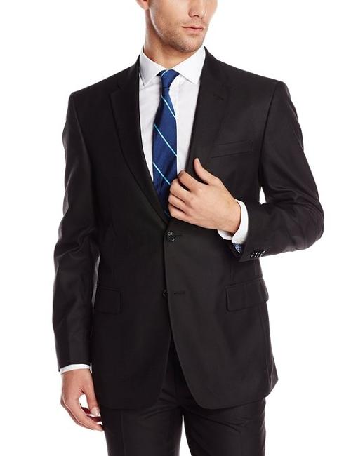 Men's Black Suit Separate Jacket by Tommy Hilfiger in Entourage