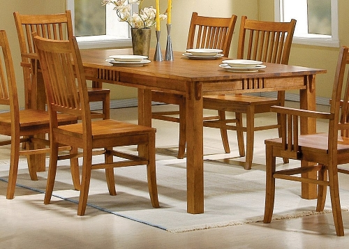 Mission Style Dining Table by Coaster Home Furnishings in Fight Club