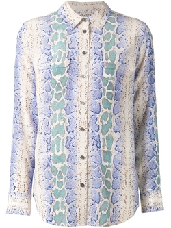 Python Skin Print Shirt by Equipment in The Mindy Project