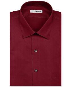 Herringbone Solid Dress Shirt by Van Heusen in Jersey Boys