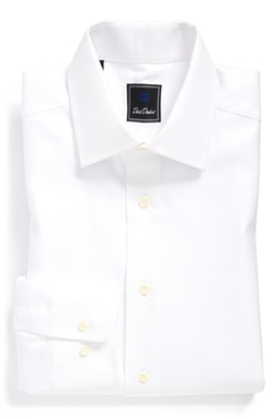 Regular Fit Solid Dress Shirt by David Donahue in 99 Homes