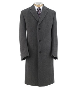 Heathered Merino Topcoat by Jos A. Bank in Bridge of Spies