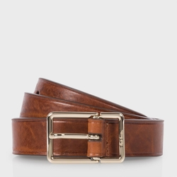 Brown Leather Integrated Belt by Paul Smith in Scream Queens
