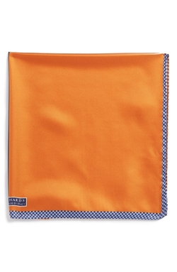 Silk Pocket Square by J.Z. Richards in Rosewood
