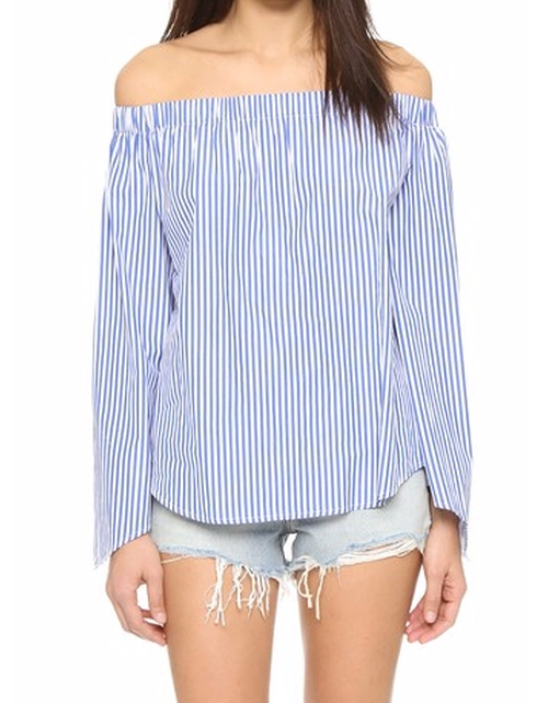 Bright Lights Stripe Top by Finderskeepers in Keeping Up With The Kardashians - Season 12 Episode 15