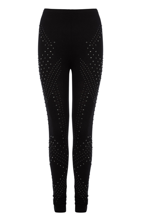 Studded Legging by Oasis in Knock Knock