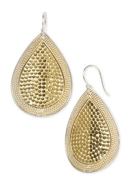 'Gili' Large Drop Earrings by Anna Beck in That Awkward Moment