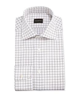 Big Box Check Woven Dress Shirt by Ermenegildo Zegna	 in No Strings Attached