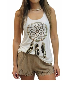 Golden Dreamcatcher Racerback Top by Bear Dance in Fuller House