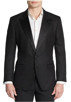 Peaked Lapel Woven Sportcoat by Dolce & Gabbana in Entourage