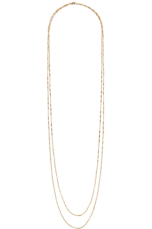 Figaro Gold-Plated Necklace by Iam By Ileana Makri in That Awkward Moment