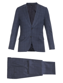 Soho Prince Of Wales Checked Wool Suit by Paul Smith in Billions