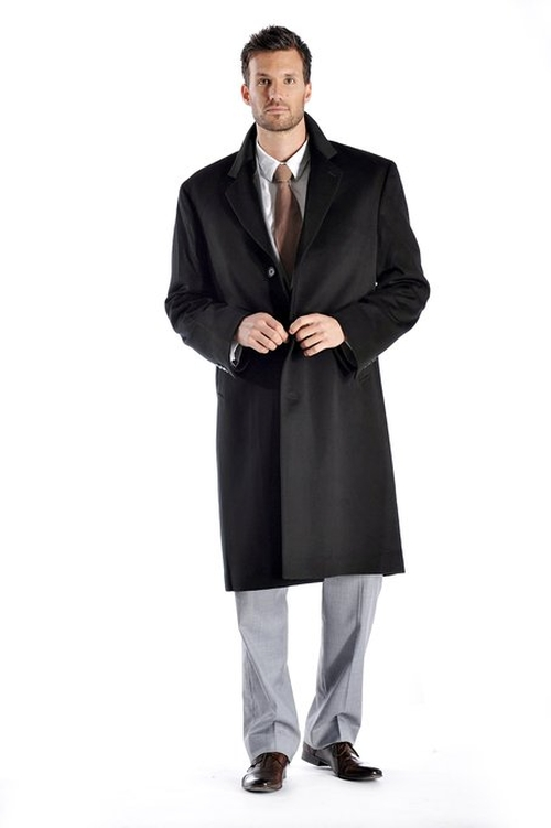 Men's Knee Length Cashmere Blend Overcoat by Cashmere Boutique in Mission: Impossible - Rogue Nation