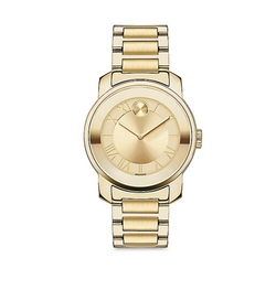 Bold Luxe Goldtone IP Bracelet Watch by Movado in Animal Kingdom