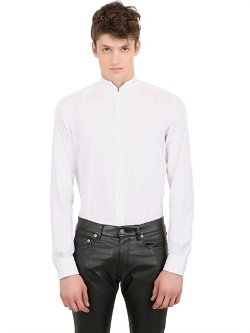 Cotton Poplin Tuxedo Shirt by Saint Laurent in The Other Woman