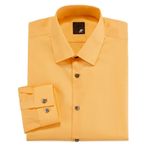 Easy-Care Slim Solid Dress Shirt by JF J. Ferrar in The Walk