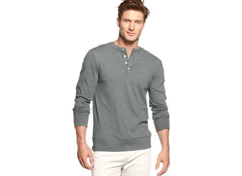 Solid Henley Shirt by Club Room in If I Stay