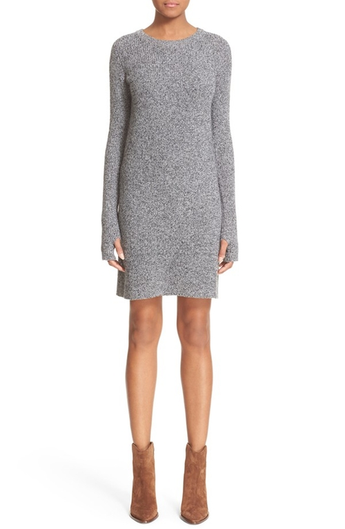 The Easy Sweater Wool & Cashmere Sweater Dress by Current/Elliott in Keeping Up With The Kardashians - Season 11 Episode 11