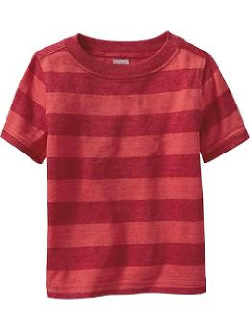 Striped Crew-Neck Tees by Old Navy in Oculus