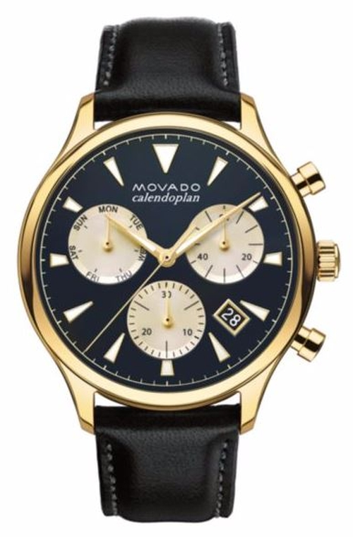 Heritage Stainless Steel and Leather Watch by Movado  in The Bachelorette - Season 12 Episode 9