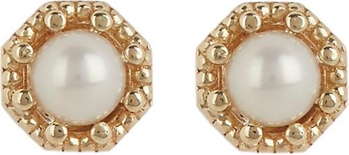 Petite Crown Bezel Diamond Stud Earrings by Grace Lee in Ashby
