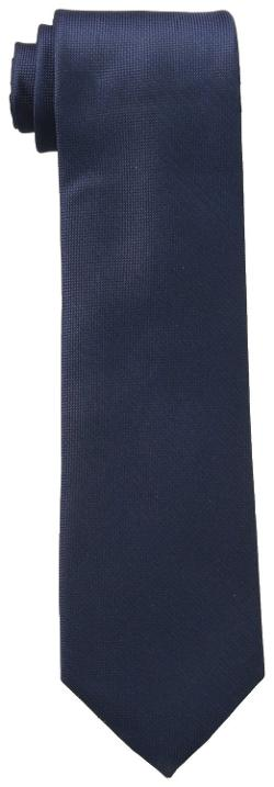Men's Silver Spun Solid Tie by Calvin Klein in Mortdecai