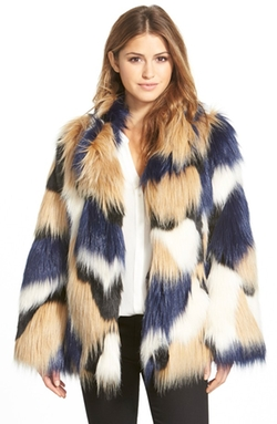 'Makayla' Patchwork Faux Fur Coat by Trina Turk in American Horror Story