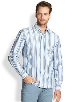 Multi Stripe Sportshirt by Canali in Yves Saint Laurent