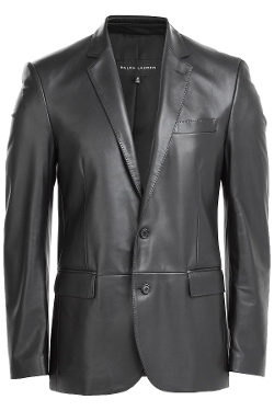 Leather Blazer by Ralph Lauren Black Label in Entourage