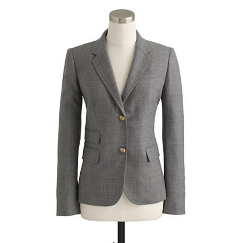 Tall Schoolboy Blazer In Italian Wool Flannel by J. Crew in Fifty Shades of Grey
