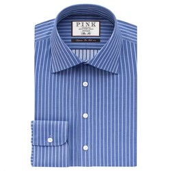 Gibson Stripe Slim Fit Button Cuff Shirt by Thomas Pink in Elementary