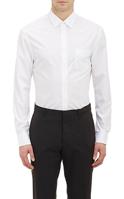 Solid Poplin Dress Shirt by Band of Outsiders in Love Actually