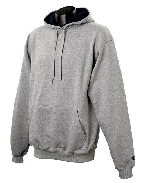 Cotton Max Pullover Hood Sweatshirt by Champion in Man of Steel