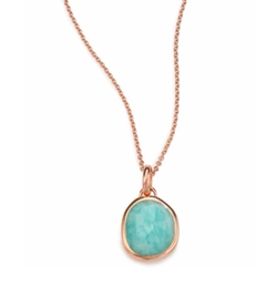 Siren Amazonite Pendant by Monica Vinader in Rosewood