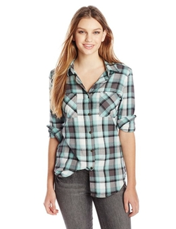 Cozy Up Flannel Shirt by Rip Curl in Fifty Shades of Grey