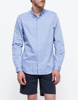 LS Herringbone Button Down by Topman in No Escape