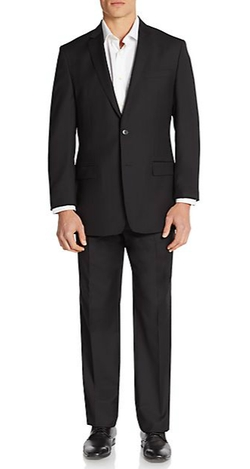 Solid Wool & Cashmere Suit by Versace Collection in Arrow