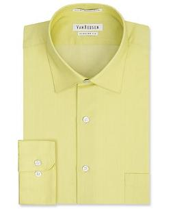 Saffron Herringbone Solid Dress Shirt by Van Heusen in Lee Daniels' The Butler