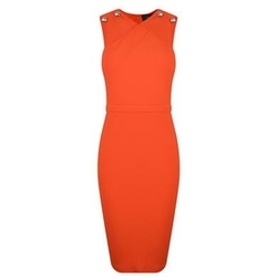 Sleeveless Wrap Over Dress by Gucci in Arrow