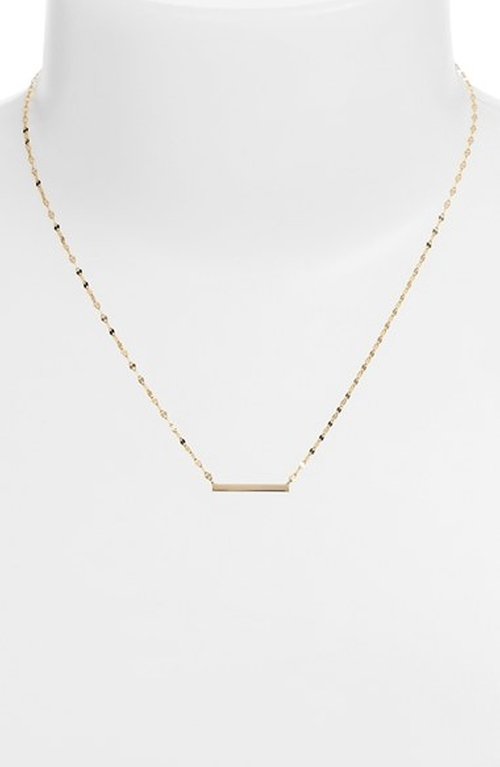 Mini Bar Pendant Necklace by Lana Jewelry in Pretty Little Liars - Season 6 Episode 7