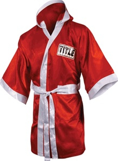 Boxing Full Length Stock Satin Robe by Title in Creed