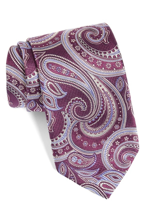 Paisley Silk Tie by David Donahue in The Mindy Project - Season 4 Episode 8