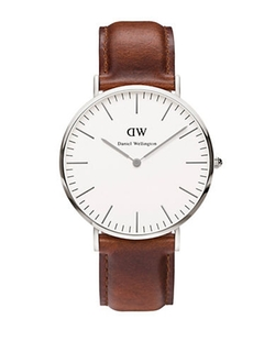 Classy St. Mawes Leather Strap Watch by Daniel Wellington in Everybody Wants Some