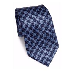 Square Floral Silk Tie by Ermenegildo Zegna in Billions