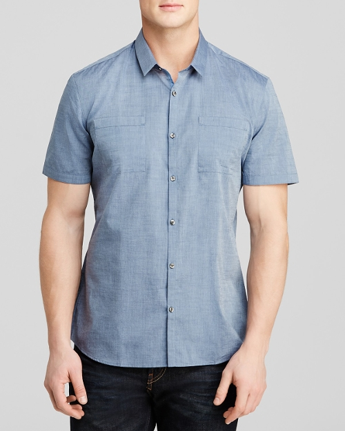 Ettino Chambray Short Sleeve Shirt by Hugo in Magic Mike XXL