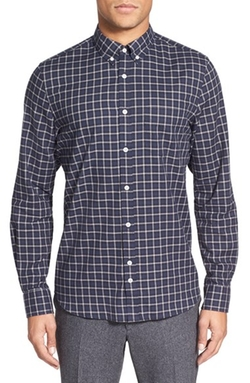 'Ward' Check Print Sport Shirt by J. Lindeberg in Master of None