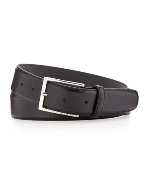 Underrico Leather Belt by Hugo Boss in Hall Pass