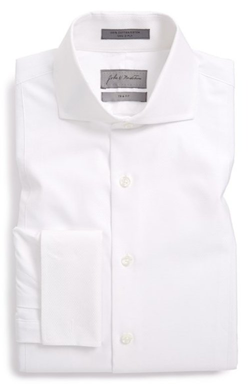 Trim Fit French Cuff Tuxedo Shirt by John W. Nordstrom in Hot Pursuit
