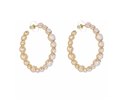 Imitation Pearl Hoop Earrings by Kenneth Jay Lane in Scream Queens