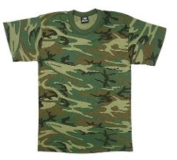 Camo Heavyweight T-Shirt by Rothco in Boyhood